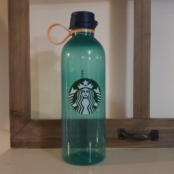Plastic reusable starbucks bottle